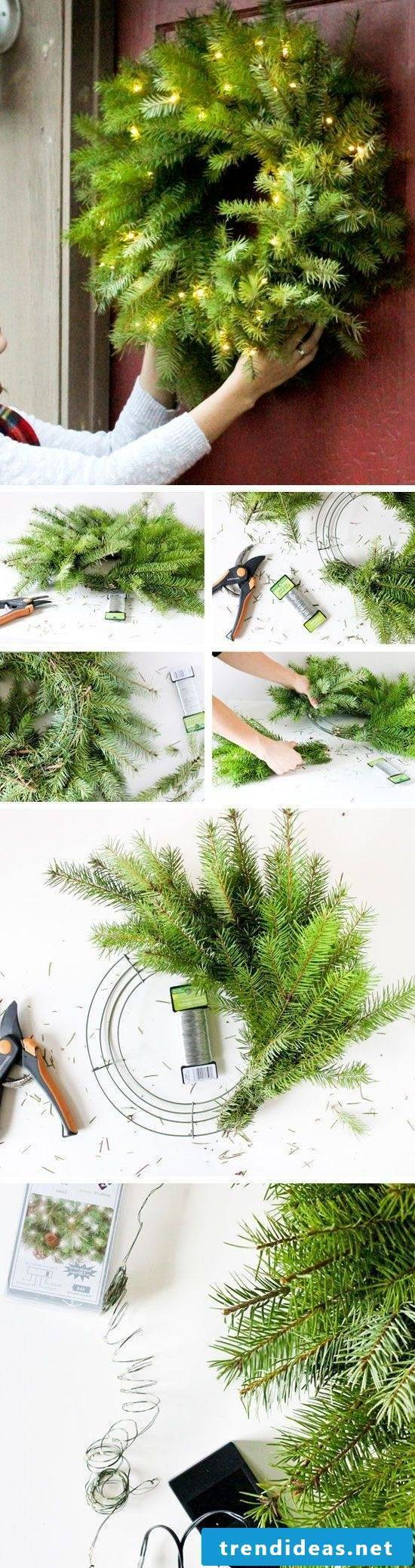 Do Christmas wreath yourself