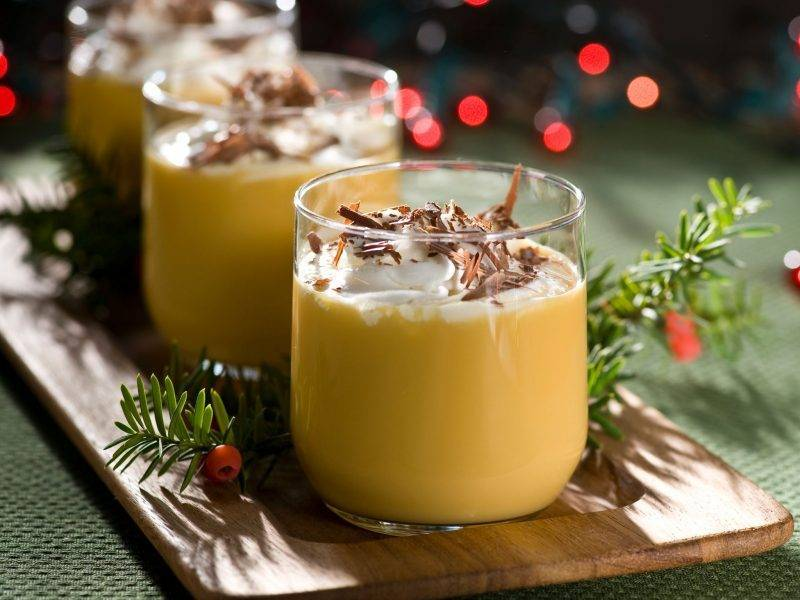 Nicholas gift for friend Christmas liqueur eggnog