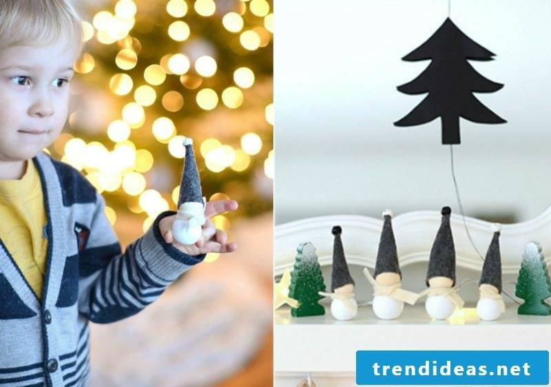 Christmas crafts with children creative decoration ideas with wooden beads