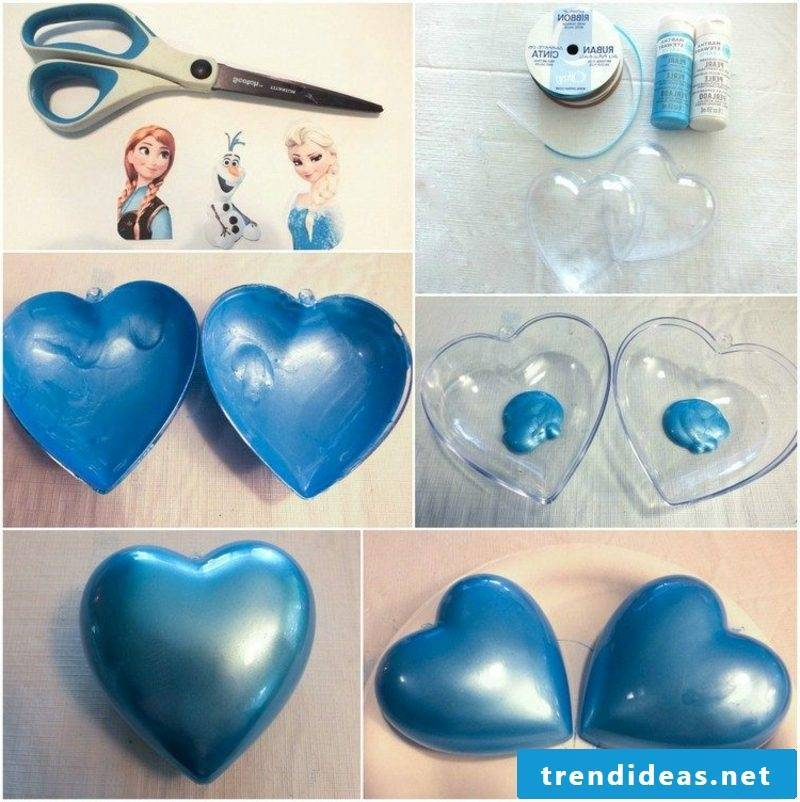 Christmas crafts with children tree decoration Ice Queen