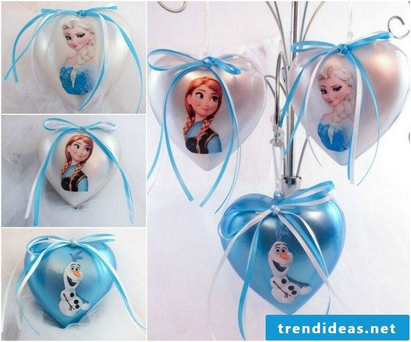 Christmas tree ornaments, inspired by the Disney movie