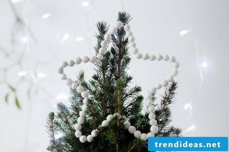 Christmas crafts with children. Star for the tree top