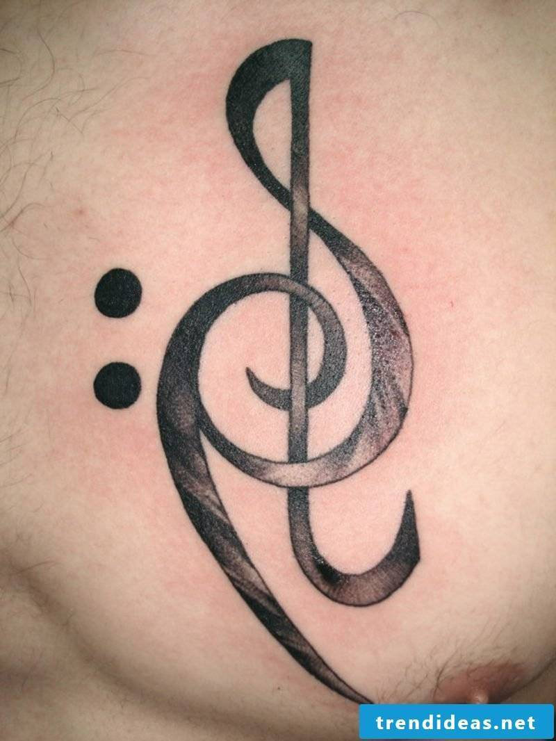 Clef Tattoo treble bass