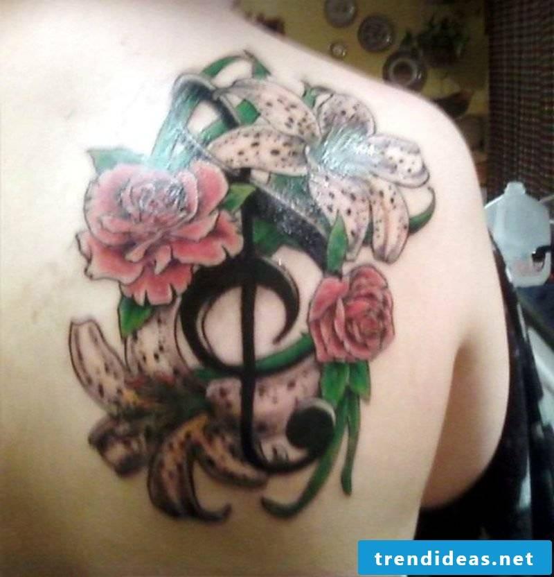 Clef Tattoo tribal
