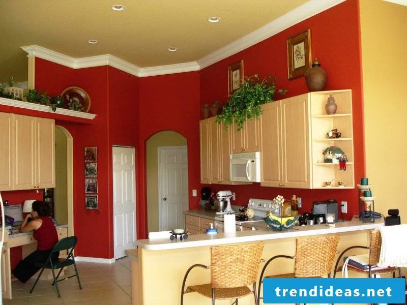 What colors go together Red kitchen