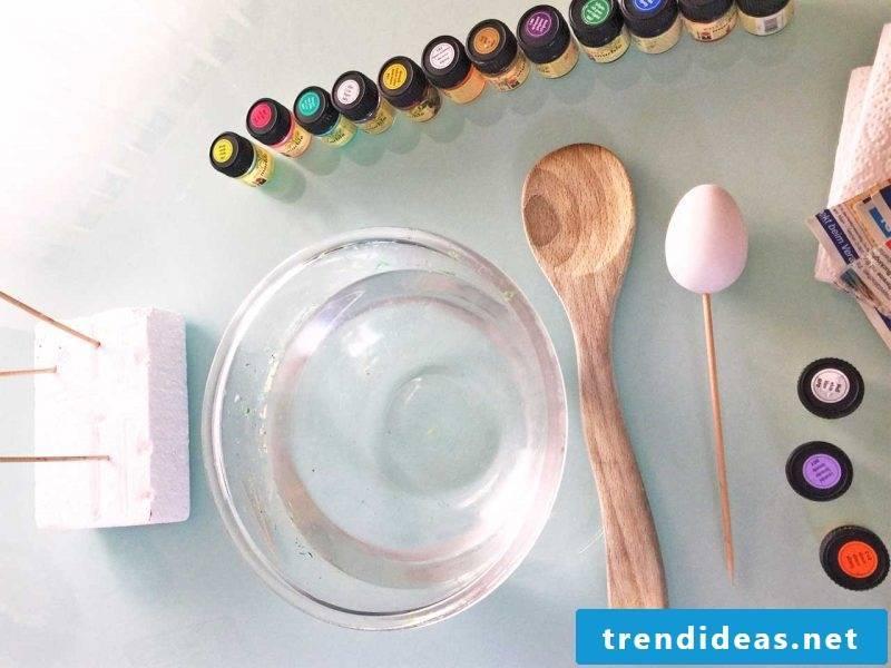 eggs dye marbling
