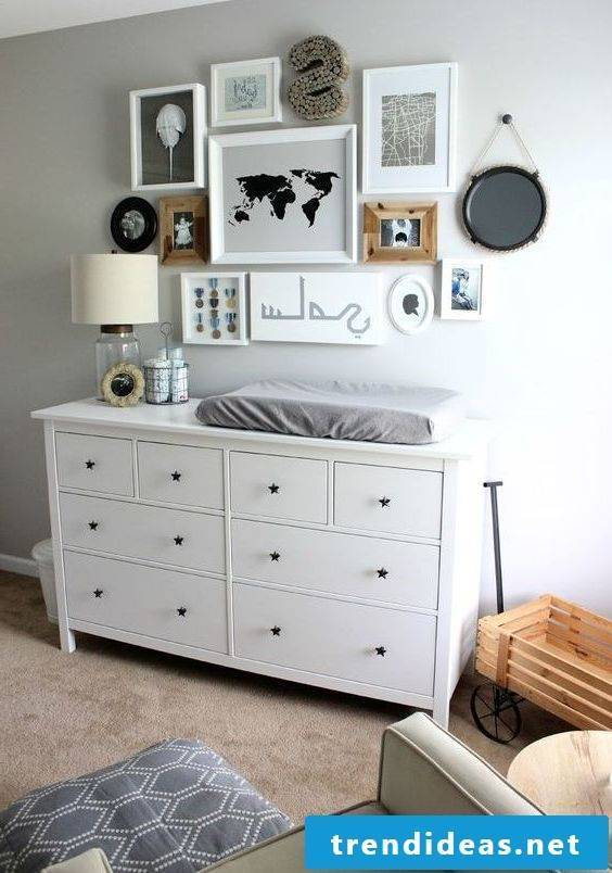 Changing table set up nursery