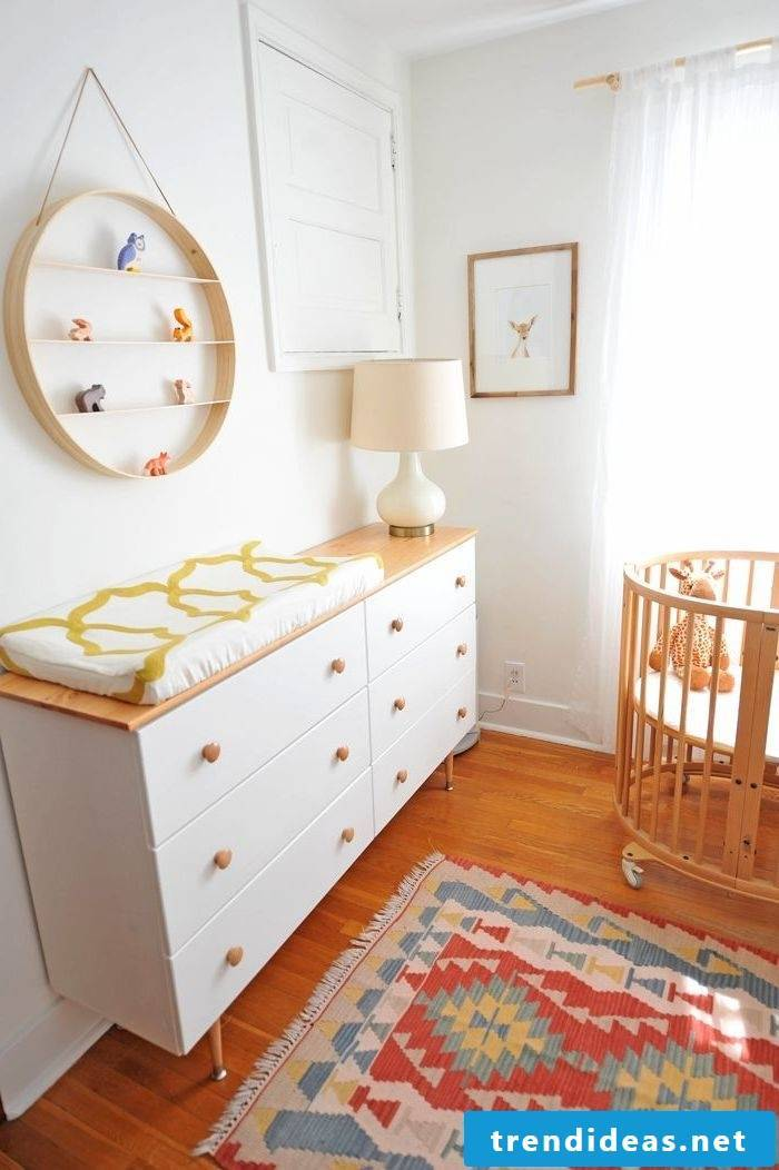 Changing table by Ikea as storage space