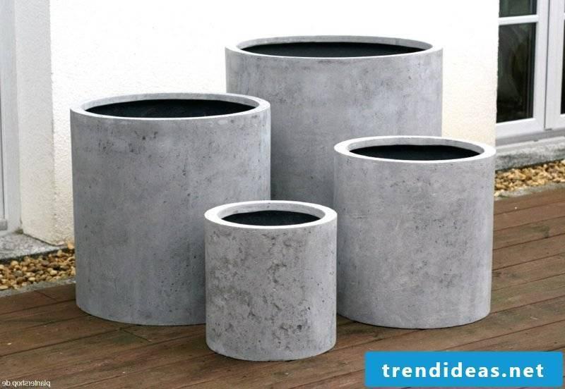 Planter cylinder shape concrete