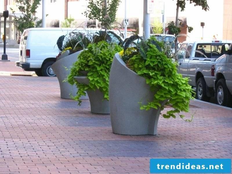 Planter made of concrete unusual design