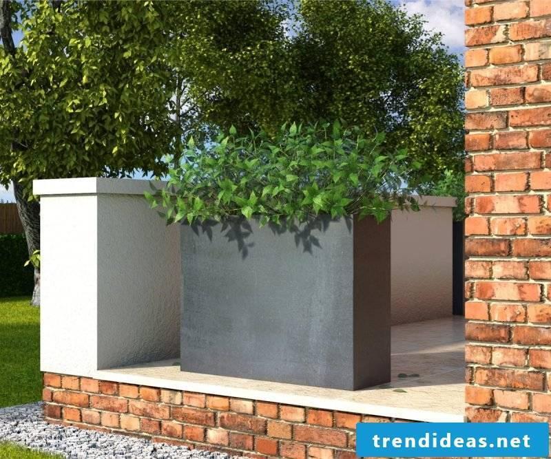 Planters made of concrete
