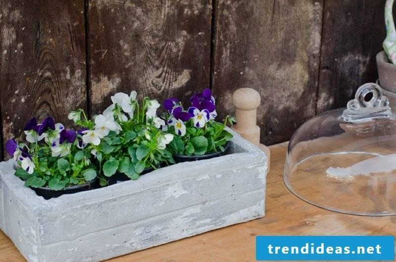 Flower box concrete