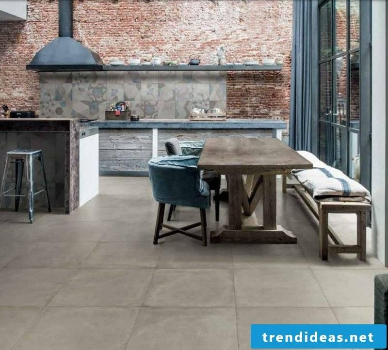 concrete tile kitchen