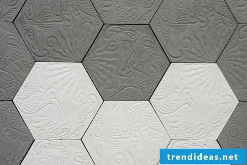 concrete tiles art