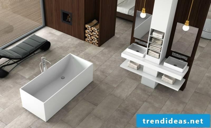 Concrete tiles flat look