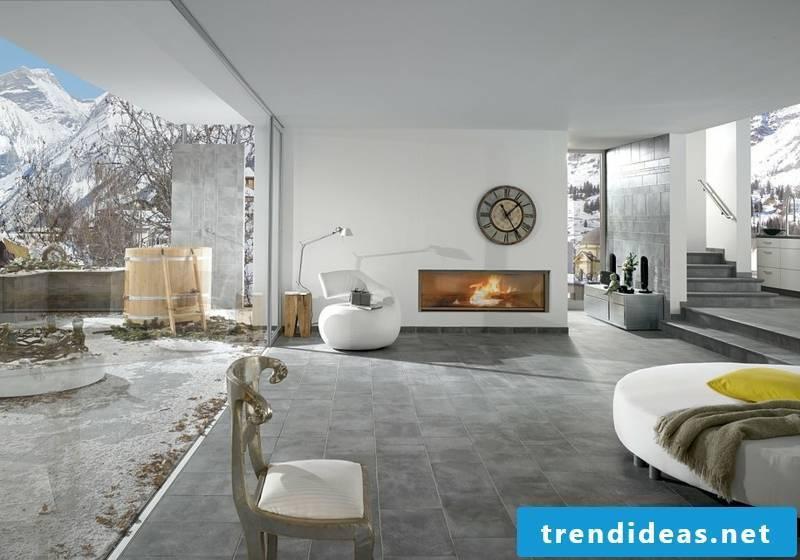 concrete tiles lively appearance