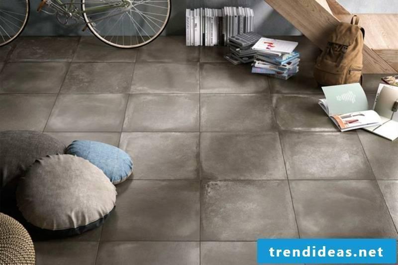 concrete tiles pastel tones