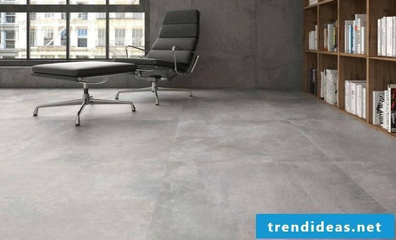 Concrete tiles for living spaces