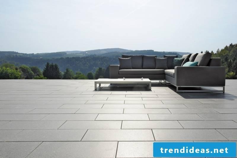 concrete tiles noble look