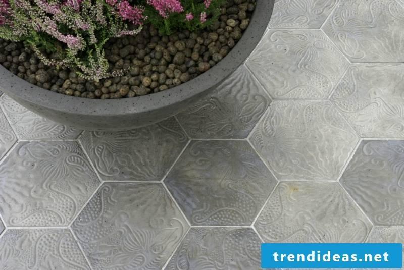 concrete tile hexagonal tiles