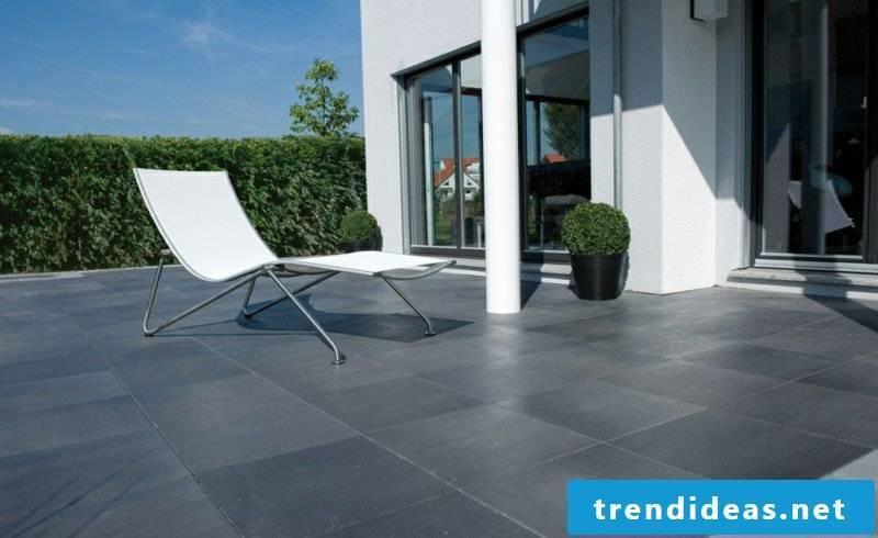 concrete tile terrace