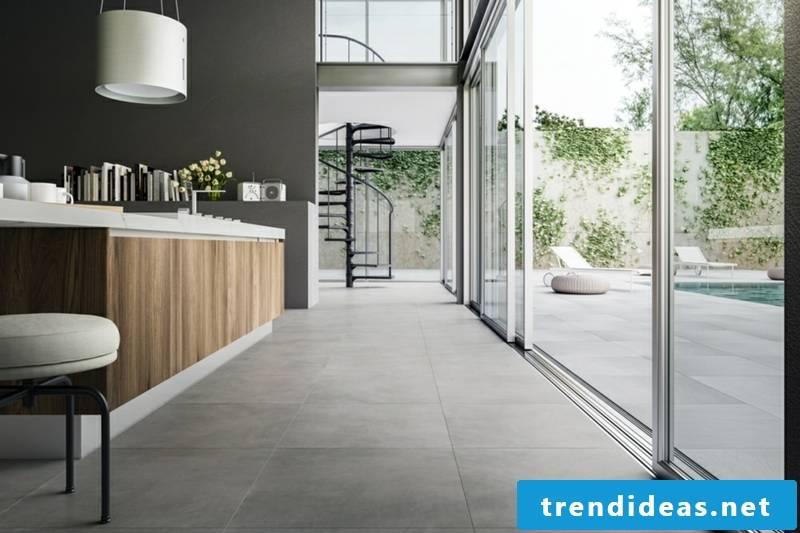 Lay concrete tiles