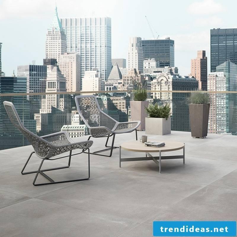 concrete tiles gorgeous terrace