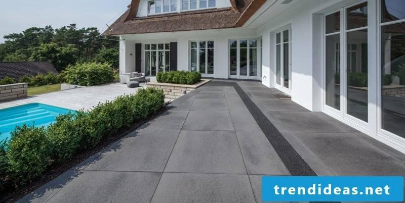 Concrete tiles as the indestructible stoneware