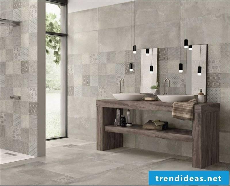 concrete tiles meets natural stone