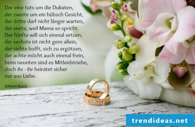 Quotes wedding funny poem by Wilhelm Busch
