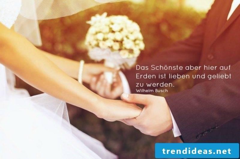 Congratulation Wedding Quote from Wilhelm Busch Weis