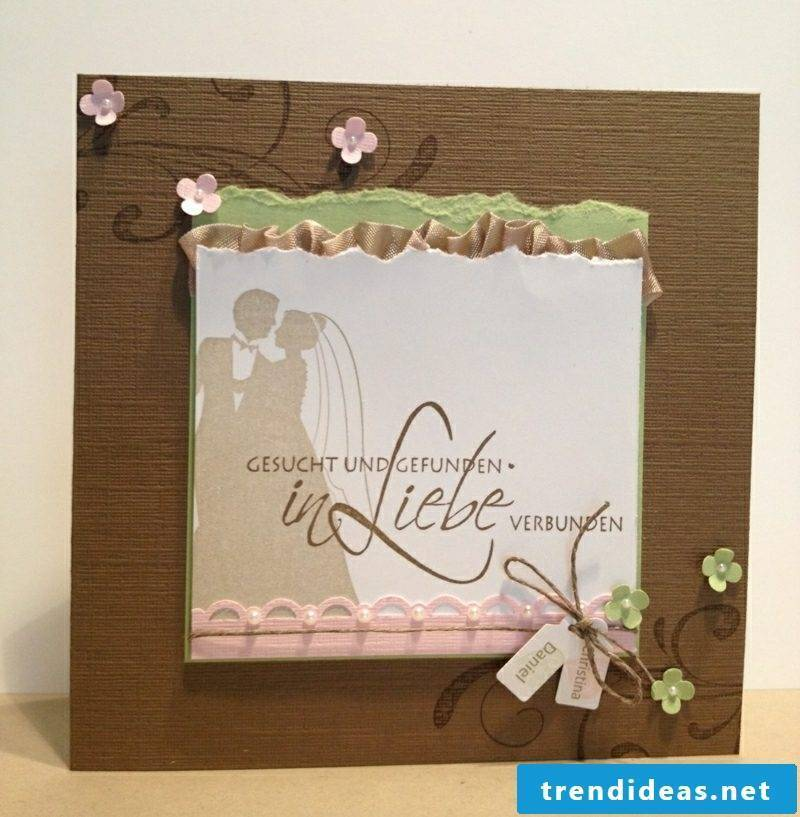 Wedding card wonderful look Love wanted and found