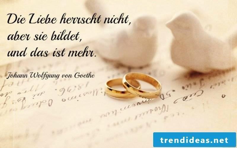iron wedding quotes Goethe