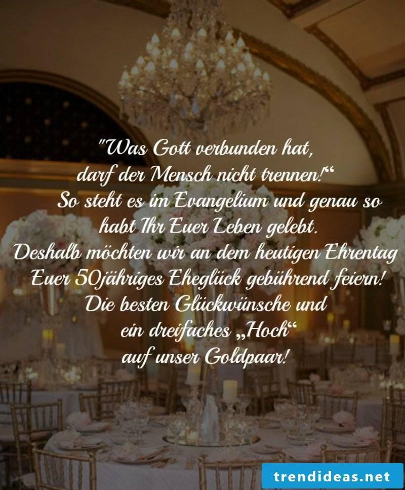 Wedding day sayings golden wedding