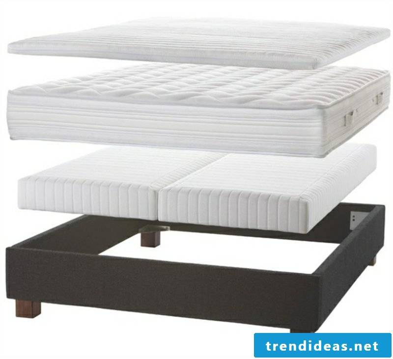 Construction of box spring bed multilayered