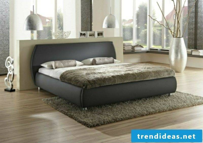 Boxspring bed with rounded headboard interesting design