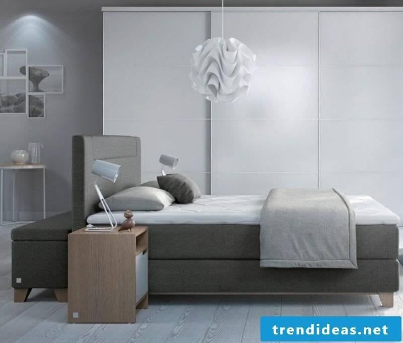 gray boxspring fabric upholstery modern look