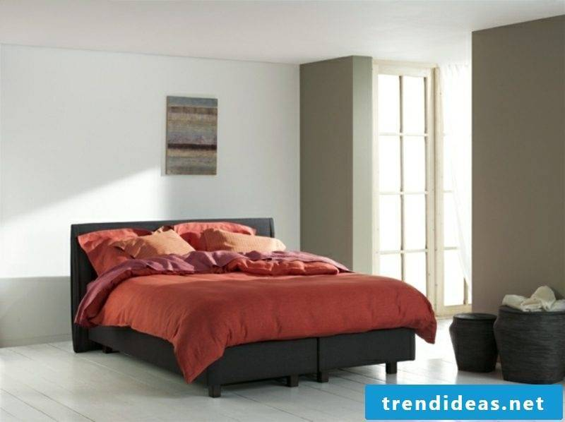 black box spring red linen modern look