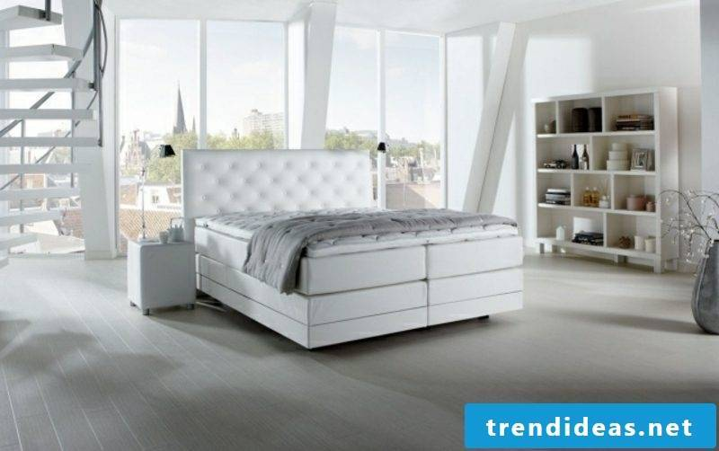 white box spring quilted headboard modern and simple design