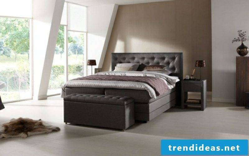 Boxspring bed modern design bedstead upholstered