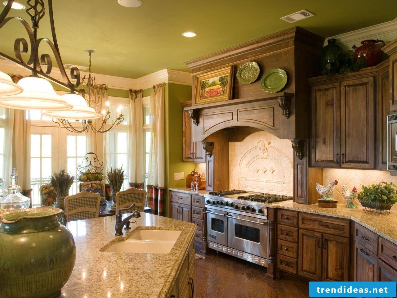 Modern and green - great kitchen in country style