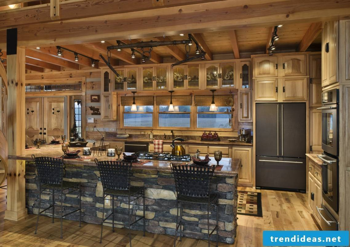 Chic wooden - country-style kitchen