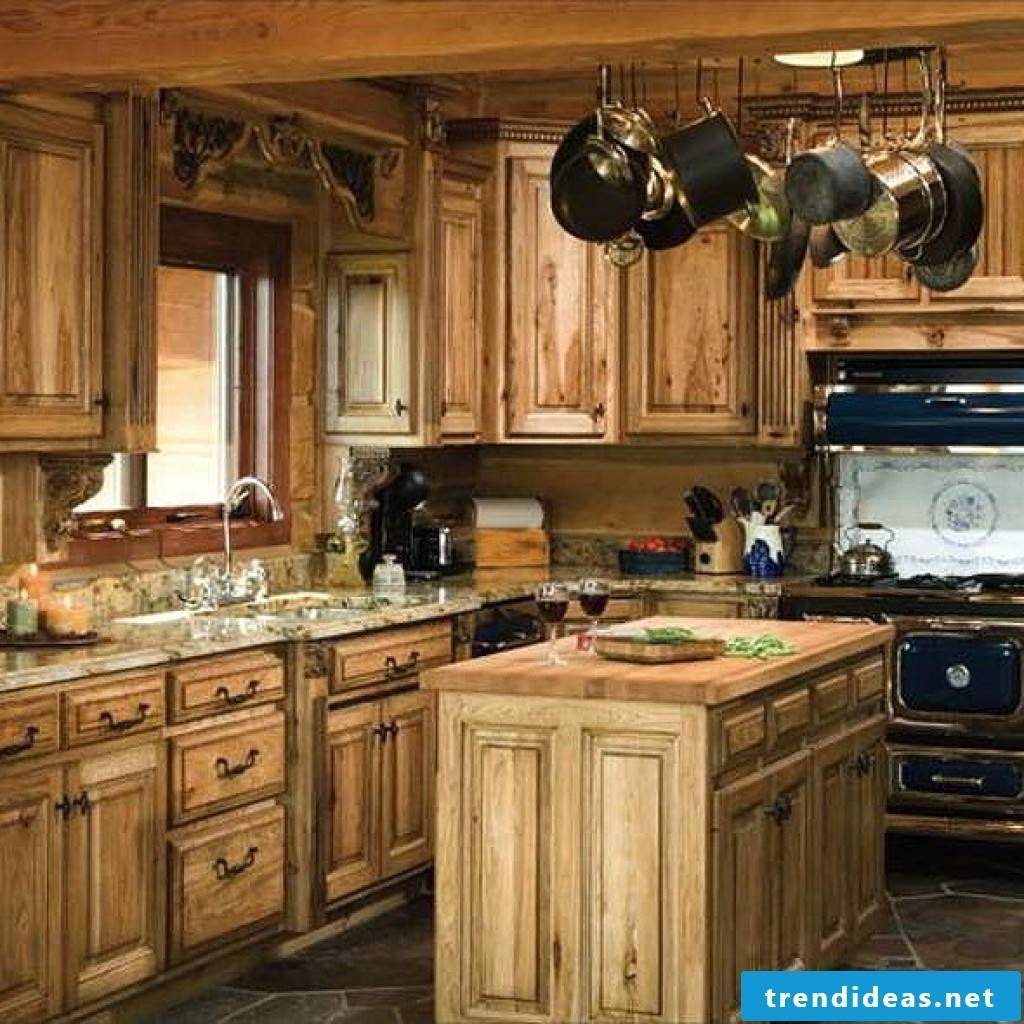 Solid wood kitchen in country style