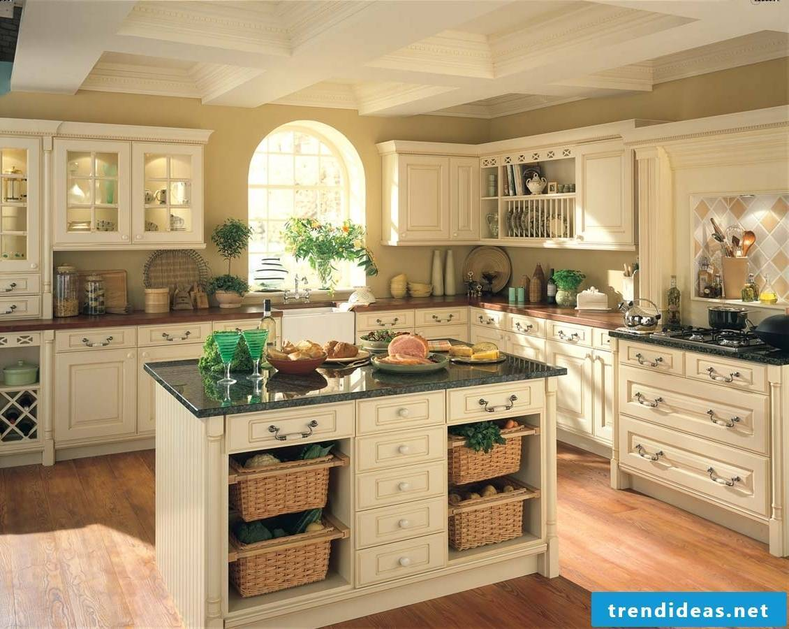 Bright rustic country kitchen in white