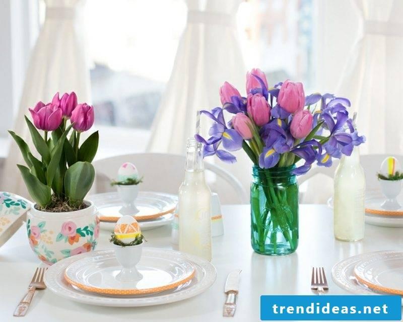 Craft Ideas Spring make table decoration