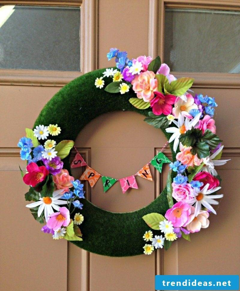 Crafting ideas Spring wreath make yourself