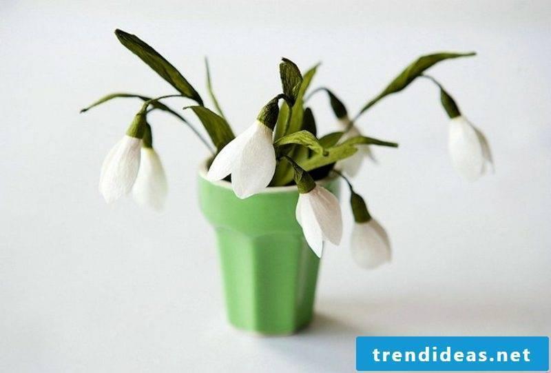 Craft Ideas Spring snowdrops realistic