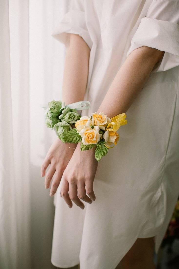 DIY paper flowers: flower ribbon