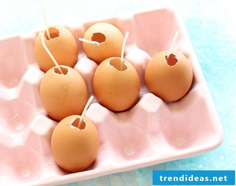 crafting easter easter pastels easter candles from egg shells tinkering instructions