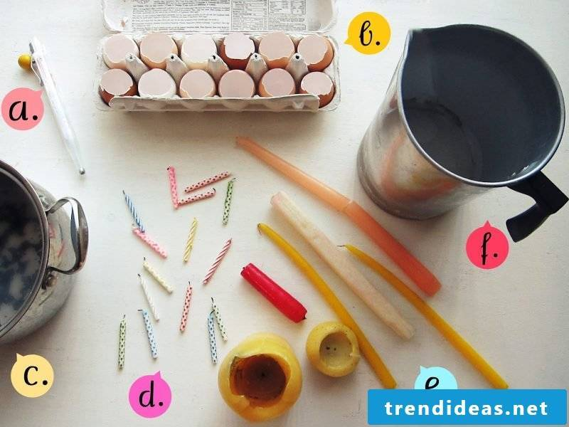 crafting easter easter pastels Easter candles from egg shells crafting instruction materials